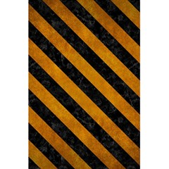 Stripes3 Black Marble & Yellow Grunge 5 5  X 8 5  Notebooks