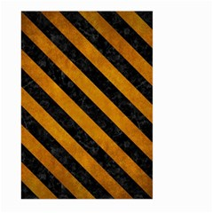 Stripes3 Black Marble & Yellow Grunge Large Garden Flag (two Sides)