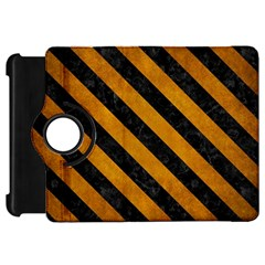 Stripes3 Black Marble & Yellow Grunge Kindle Fire Hd 7