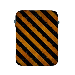 Stripes3 Black Marble & Yellow Grunge Apple Ipad 2/3/4 Protective Soft Cases