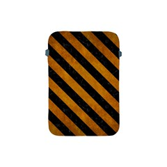 Stripes3 Black Marble & Yellow Grunge Apple Ipad Mini Protective Soft Cases