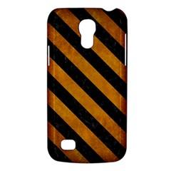 Stripes3 Black Marble & Yellow Grunge Galaxy S4 Mini