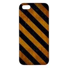 Stripes3 Black Marble & Yellow Grunge Iphone 5s/ Se Premium Hardshell Case