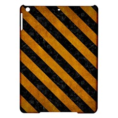 Stripes3 Black Marble & Yellow Grunge Ipad Air Hardshell Cases