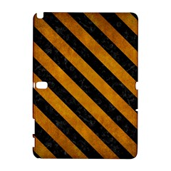 Stripes3 Black Marble & Yellow Grunge Galaxy Note 1