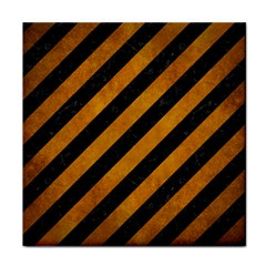 Stripes3 Black Marble & Yellow Grunge (r) Face Towel