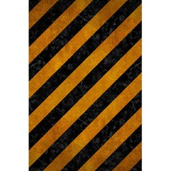 Stripes3 Black Marble & Yellow Grunge (r) 5 5  X 8 5  Notebooks