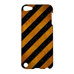 Stripes3 Black Marble & Yellow Grunge (r) Apple Ipod Touch 5 Hardshell Case