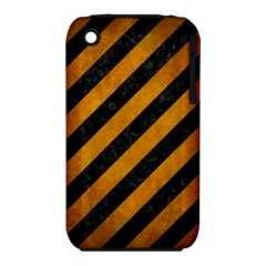 Stripes3 Black Marble & Yellow Grunge (r) Iphone 3s/3gs