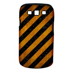 Stripes3 Black Marble & Yellow Grunge (r) Samsung Galaxy S Iii Classic Hardshell Case (pc+silicone)