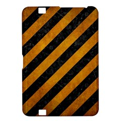 Stripes3 Black Marble & Yellow Grunge (r) Kindle Fire Hd 8 9