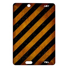 Stripes3 Black Marble & Yellow Grunge (r) Amazon Kindle Fire Hd (2013) Hardshell Case