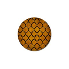 Tile1 Black Marble & Yellow Grunge Golf Ball Marker (10 Pack)