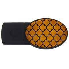 Tile1 Black Marble & Yellow Grunge Usb Flash Drive Oval (2 Gb)