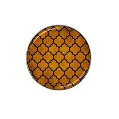 Tile1 Black Marble & Yellow Grunge Hat Clip Ball Marker (4 Pack)