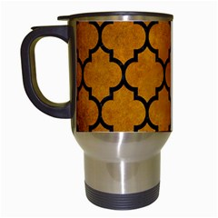 Tile1 Black Marble & Yellow Grunge Travel Mugs (white)