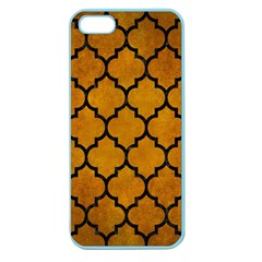 Tile1 Black Marble & Yellow Grunge Apple Seamless Iphone 5 Case (color)