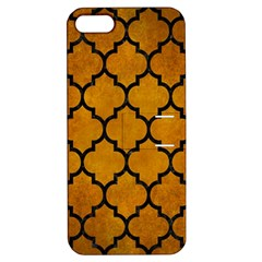 Tile1 Black Marble & Yellow Grunge Apple Iphone 5 Hardshell Case With Stand