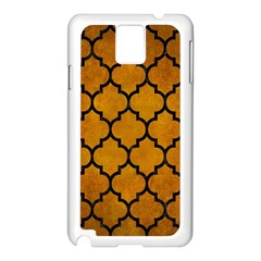 Tile1 Black Marble & Yellow Grunge Samsung Galaxy Note 3 N9005 Case (white)