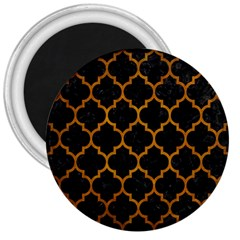 Tile1 Black Marble & Yellow Grunge (r) 3  Magnets