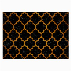 Tile1 Black Marble & Yellow Grunge (r) Large Glasses Cloth