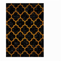 Tile1 Black Marble & Yellow Grunge (r) Large Garden Flag (two Sides)