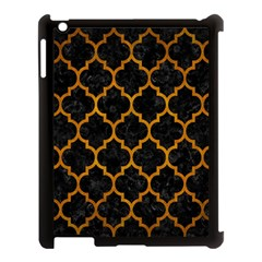 Tile1 Black Marble & Yellow Grunge (r) Apple Ipad 3/4 Case (black)