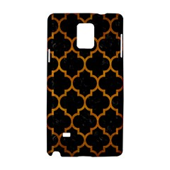 Tile1 Black Marble & Yellow Grunge (r) Samsung Galaxy Note 4 Hardshell Case
