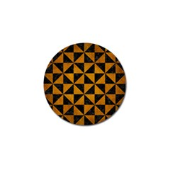 Triangle1 Black Marble & Yellow Grunge Golf Ball Marker (4 Pack)