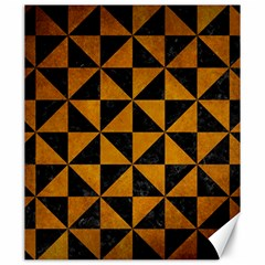 Triangle1 Black Marble & Yellow Grunge Canvas 20  X 24