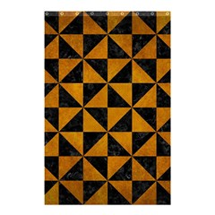 Triangle1 Black Marble & Yellow Grunge Shower Curtain 48  X 72  (small)