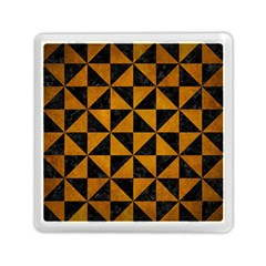 Triangle1 Black Marble & Yellow Grunge Memory Card Reader (square)