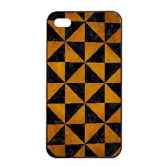 Triangle1 Black Marble & Yellow Grunge Apple Iphone 4/4s Seamless Case (black)