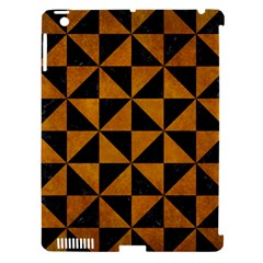 Triangle1 Black Marble & Yellow Grunge Apple Ipad 3/4 Hardshell Case (compatible With Smart Cover)