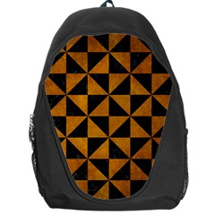 Triangle1 Black Marble & Yellow Grunge Backpack Bag