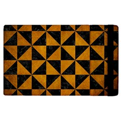 Triangle1 Black Marble & Yellow Grunge Apple Ipad 2 Flip Case