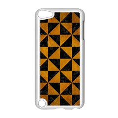 Triangle1 Black Marble & Yellow Grunge Apple Ipod Touch 5 Case (white)
