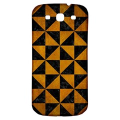 Triangle1 Black Marble & Yellow Grunge Samsung Galaxy S3 S Iii Classic Hardshell Back Case