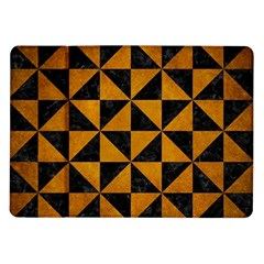 Triangle1 Black Marble & Yellow Grunge Samsung Galaxy Tab 10 1  P7500 Flip Case
