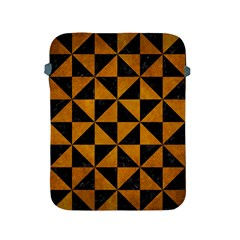 Triangle1 Black Marble & Yellow Grunge Apple Ipad 2/3/4 Protective Soft Cases