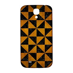 Triangle1 Black Marble & Yellow Grunge Samsung Galaxy S4 I9500/i9505  Hardshell Back Case