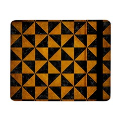 Triangle1 Black Marble & Yellow Grunge Samsung Galaxy Tab Pro 8 4  Flip Case