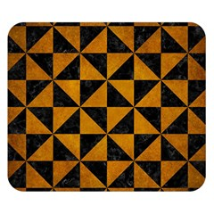 Triangle1 Black Marble & Yellow Grunge Double Sided Flano Blanket (small)
