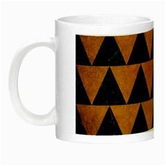 Triangle2 Black Marble & Yellow Grunge Night Luminous Mugs
