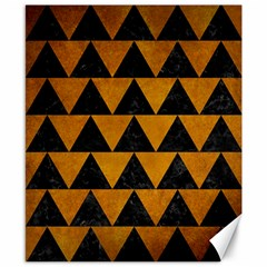 Triangle2 Black Marble & Yellow Grunge Canvas 8  X 10