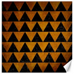 Triangle2 Black Marble & Yellow Grunge Canvas 20  X 20