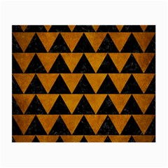 Triangle2 Black Marble & Yellow Grunge Small Glasses Cloth (2 Side)