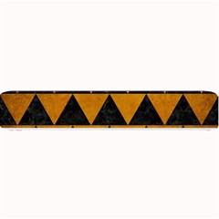 Triangle2 Black Marble & Yellow Grunge Small Bar Mats