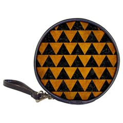 Triangle2 Black Marble & Yellow Grunge Classic 20 Cd Wallets
