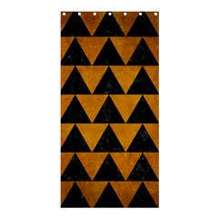 Triangle2 Black Marble & Yellow Grunge Shower Curtain 36  X 72  (stall)